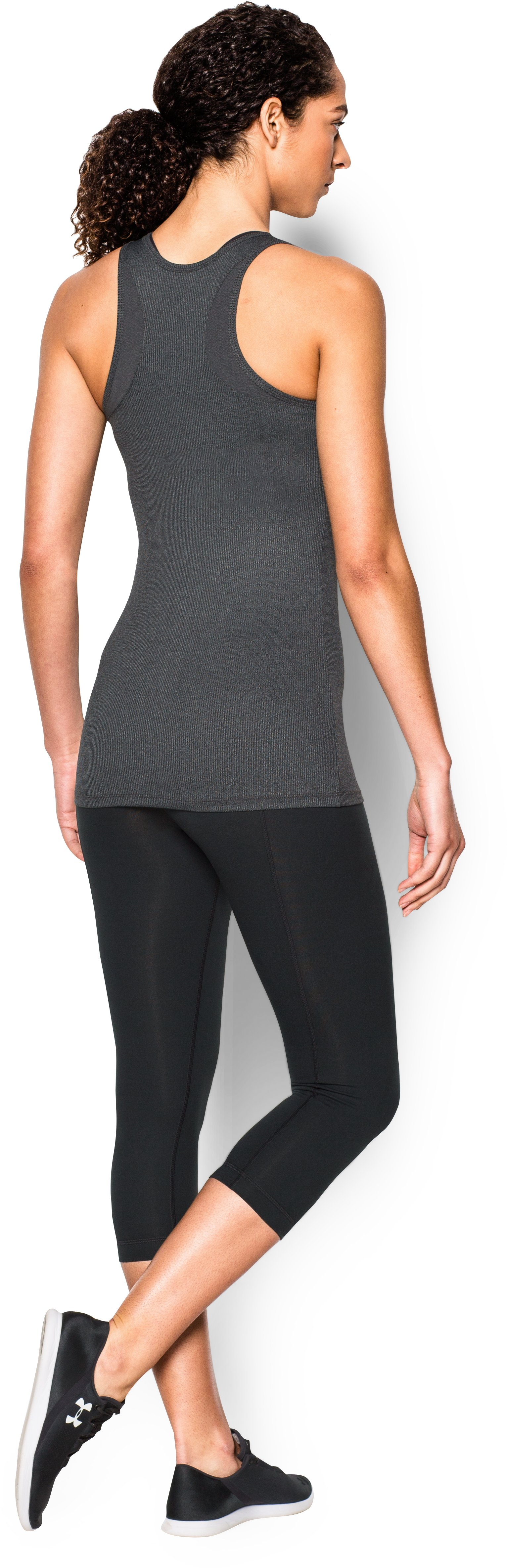 Women's UA Tech™ Victory Tank, Carbon Heather, Back
