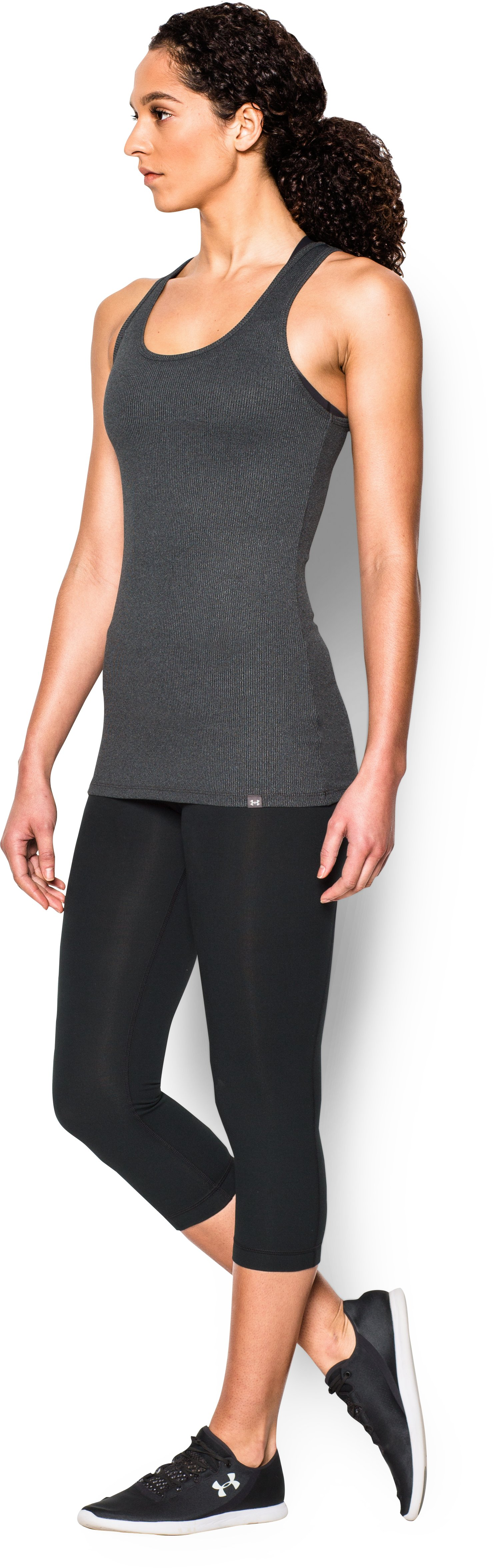 Women's UA Tech™ Victory Tank, Carbon Heather,