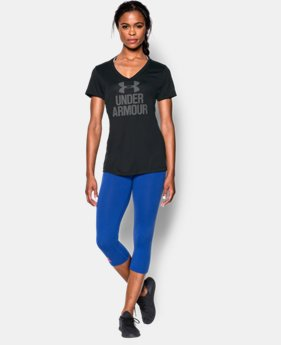 Women's UA Tech™ Branded V-Neck LIMITED TIME: FREE U.S. SHIPPING 2 Colors $15.74