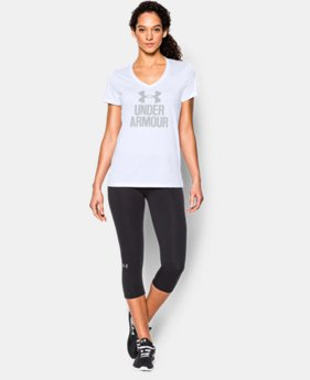 Women's UA Tech™ V-Neck - Branded  3 Colors $27.99