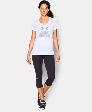 Women's UA Tech™ Branded V-Neck LIMITED TIME: FREE U.S. SHIPPING 3 Colors $15.74