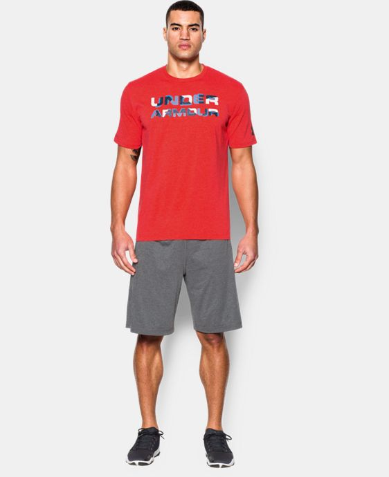 New to Outlet Men's UA Stacked Wordmark T-Shirt LIMITED TIME: FREE U.S. SHIPPING 1 Color $14.24 to $18.99