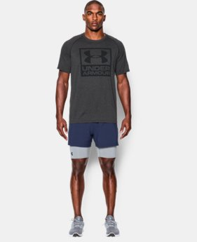 Men's UA Tech™ Boxed Logo T-Shirt LIMITED TIME: FREE SHIPPING 5 Colors $32.99