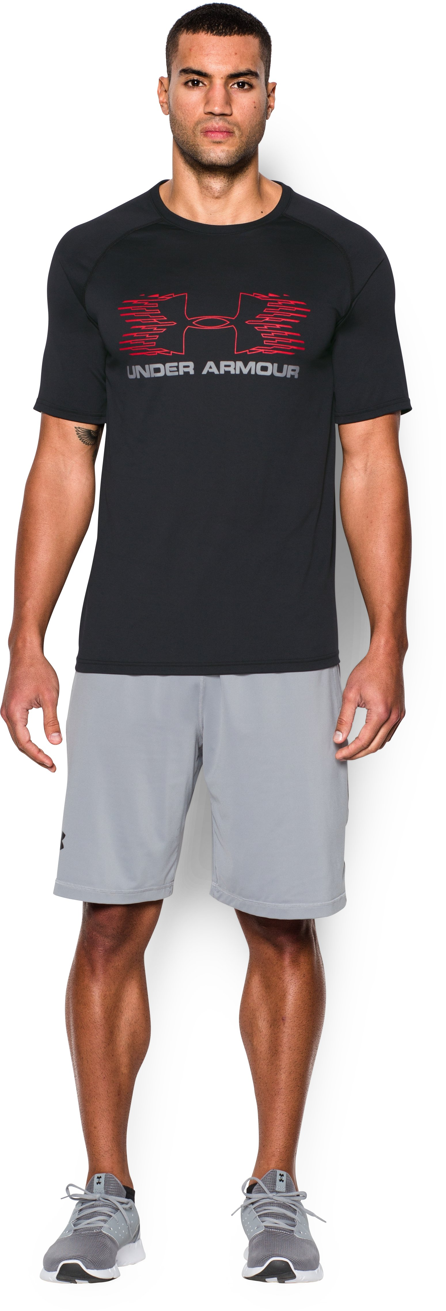 Men's UA Tech™ Sportstyle T-Shirt, Black , Front