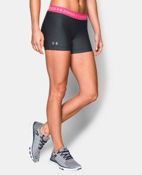 "Women's UA HeatGear® Armour 3"" Shorty LIMITED TIME: FREE U.S. SHIPPING 1 Color $14.24 to $17.99"
