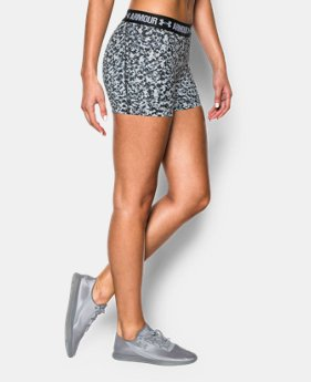"Women's UA HeatGear® Armour Printed 3"" Shorty LIMITED TIME: FREE SHIPPING 3 Colors $17.99"