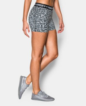 "Women's UA HeatGear® Armour Printed 3"" Shorty LIMITED TIME: FREE U.S. SHIPPING 1 Color $13.49 to $22.99"