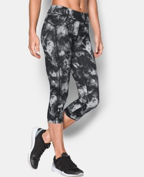 "Women's UA HeatGear® Armour Printed 18"" Capri"