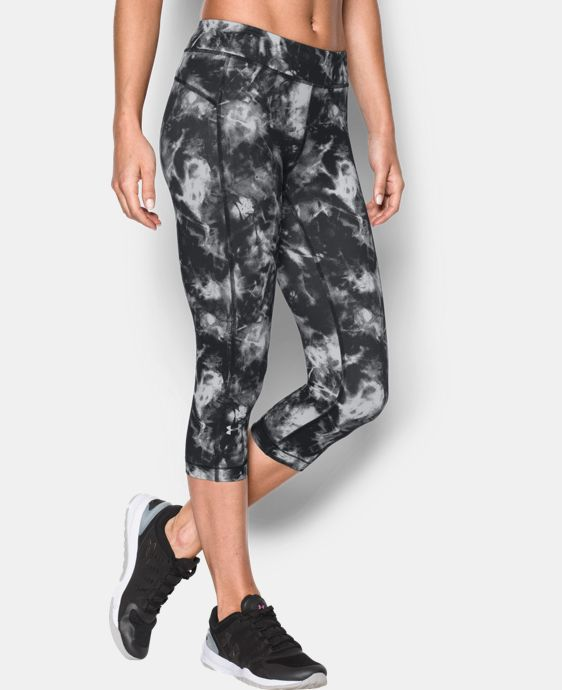 "Women's UA HeatGear® Armour Printed 18"" Capri  1 Color $33.99"