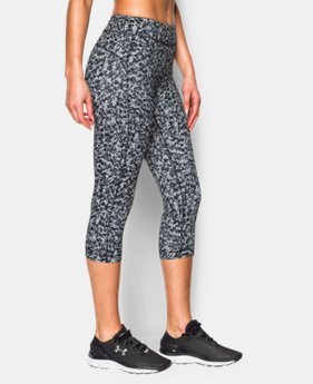 "Women's UA HeatGear® Armour Printed 18"" Capri LIMITED TIME: FREE U.S. SHIPPING  $22.49 to $29.99"