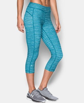 "Women's UA HeatGear® Armour Printed 18"" Capri  1 Color $20.24 to $25.49"