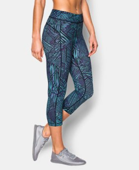 "Women's UA HeatGear® Armour Printed 18"" Capri  1 Color $17.99 to $29.99"