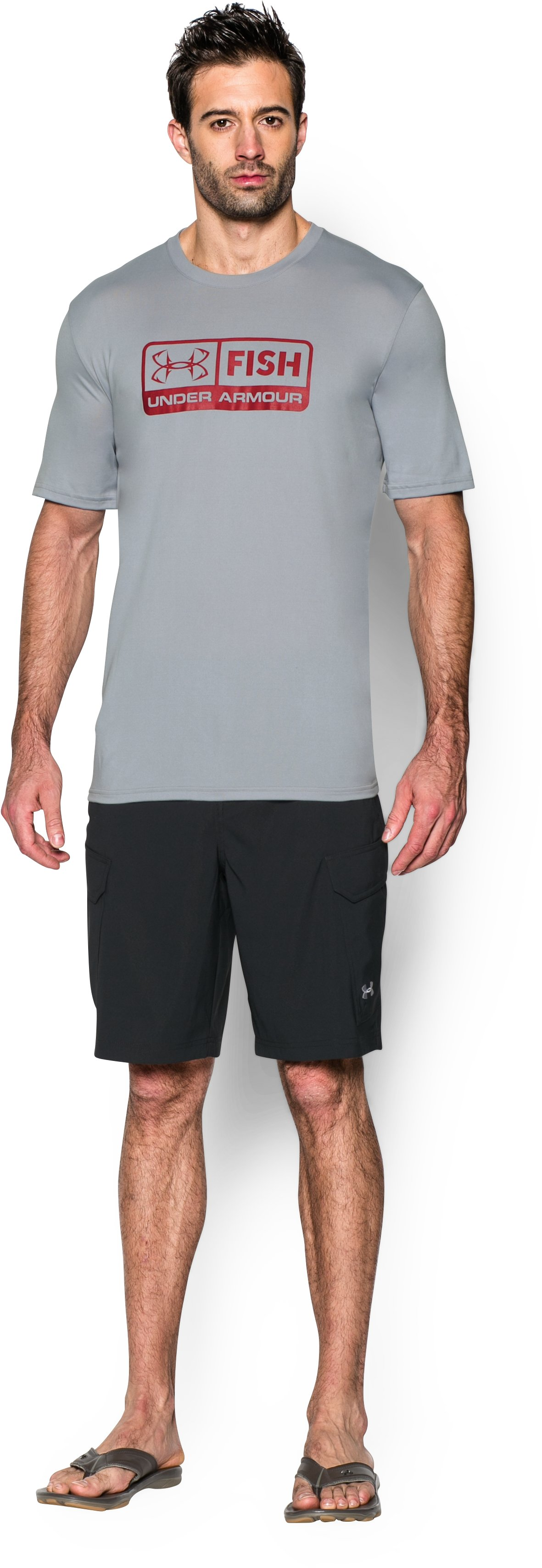 Men's UA Fish T-Shirt, AMALGAM GRAY
