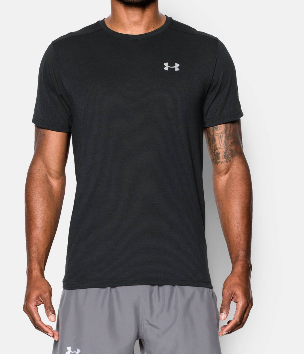 Black t shirt under button down - Men S Ua Threadborne Streaker Short Sleeve 6 Colors 34 99