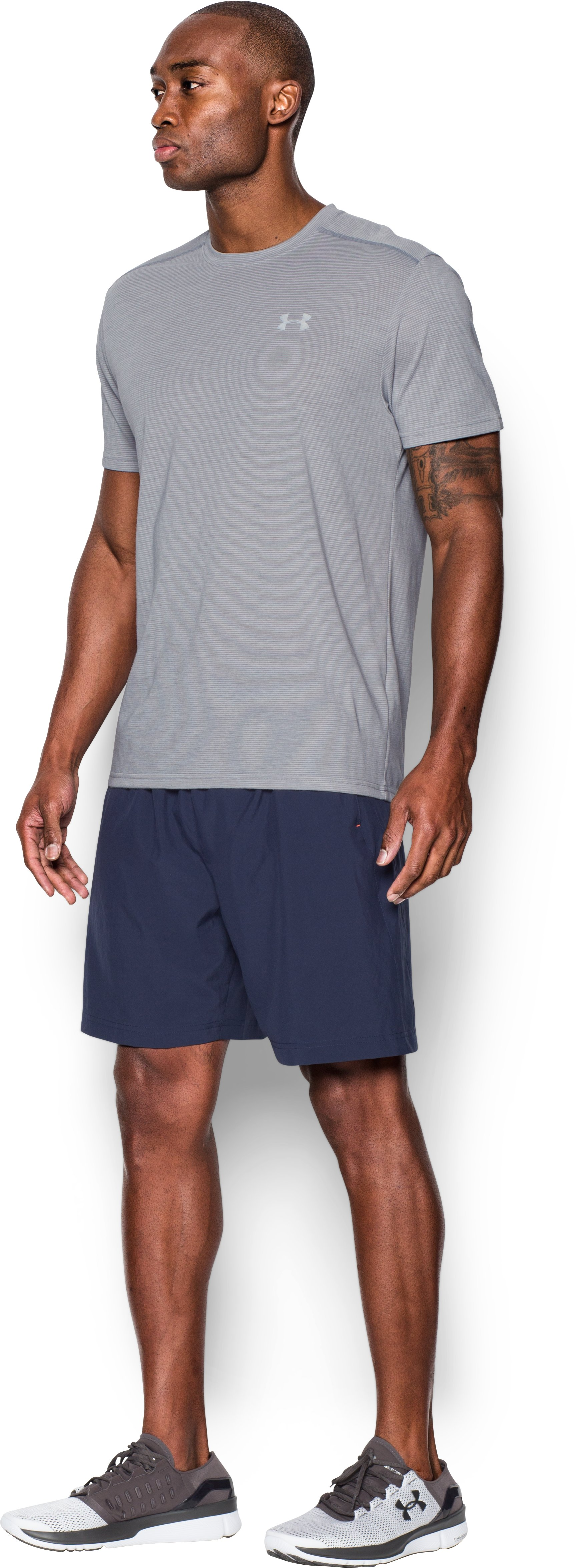 Men's UA Streaker Run Short Sleeve T-Shirt, True Gray Heather