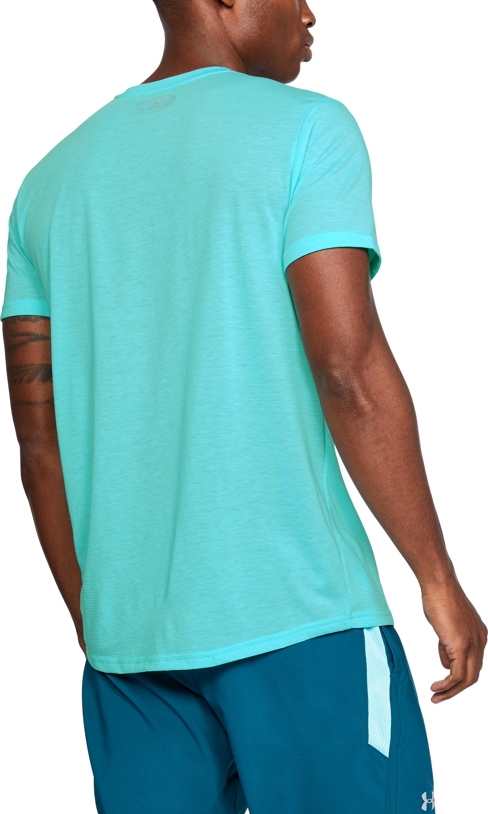 Men's UA Threadborne Streaker Short Sleeve, TROPICAL TIDE, undefined