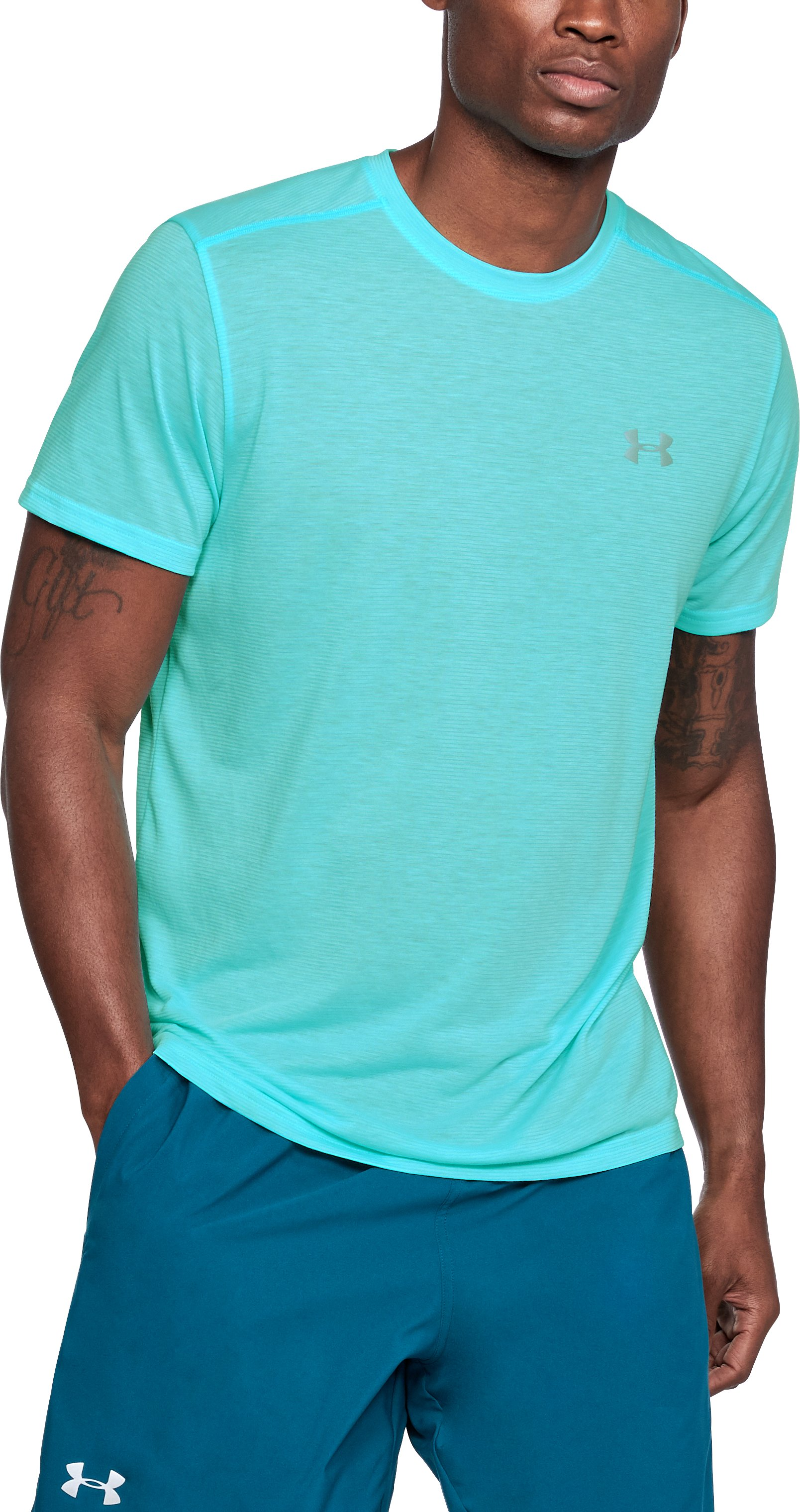 Men's UA Threadborne Streaker Short Sleeve, TROPICAL TIDE