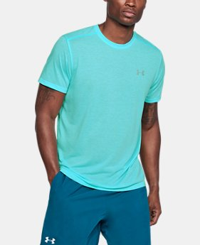 Men's UA Threadborne Streaker Short Sleeve FREE U.S. SHIPPING 4  Colors Available $29.99
