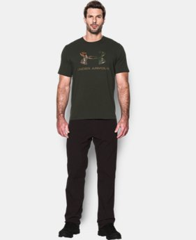 New Arrival  Men's UA Camo Fill Logo T-Shirt LIMITED TIME: FREE SHIPPING  $29.99