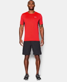 New to Outlet Men's UA CoolSwitch Run Short Sleeve  1 Color $29.99