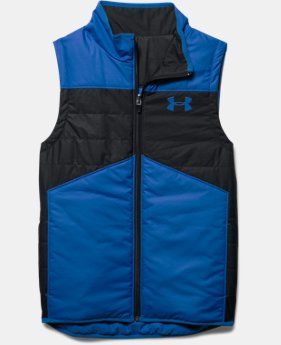 Boys' UA Pure Shot Reversible Puffer Vest