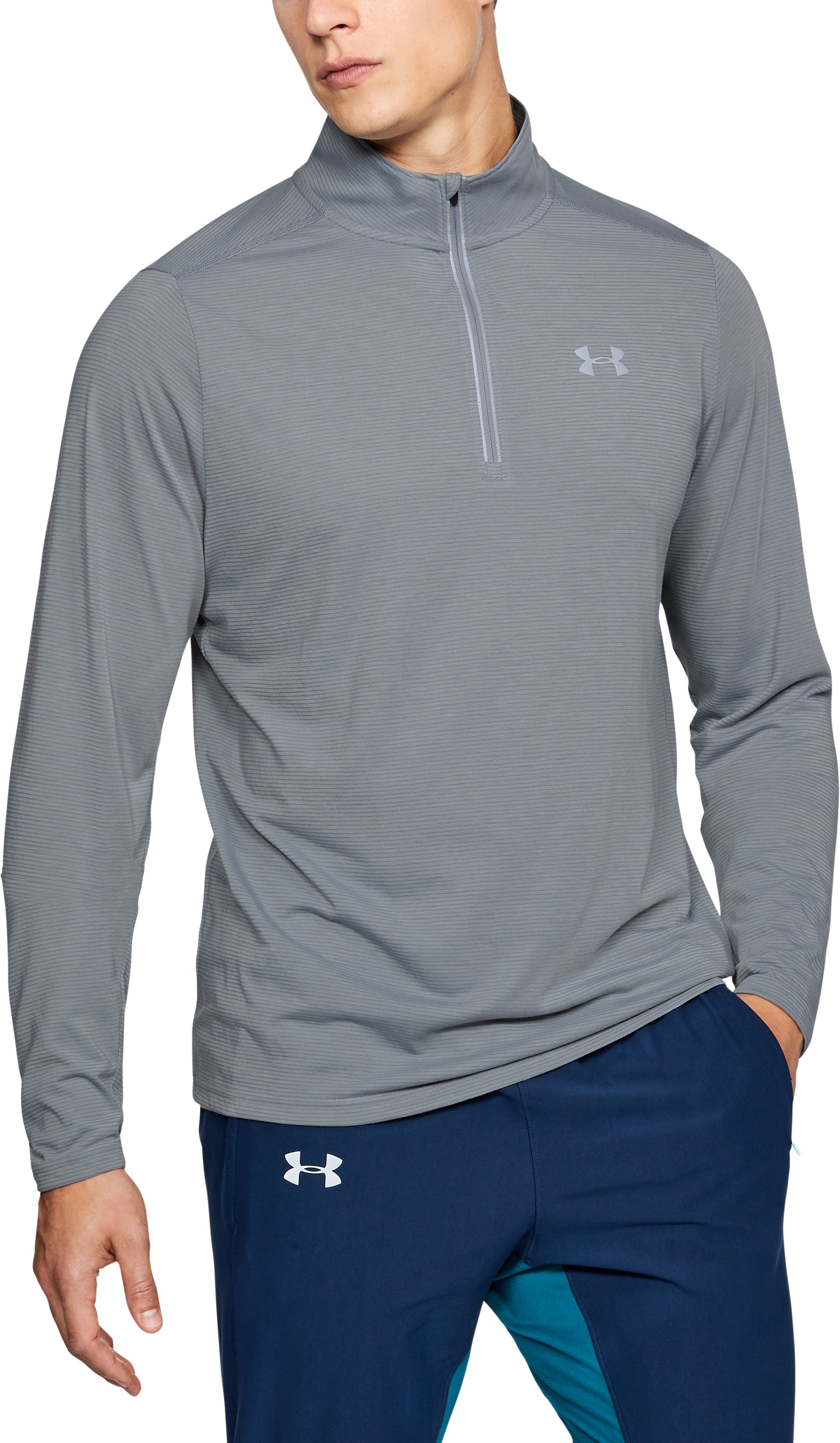 Men's UA Streaker ¼ Zip, Steel