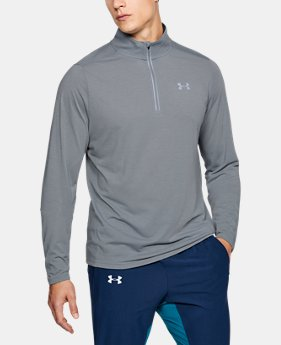 Men's UA Threadborne Streaker ¼ Zip  7  Colors Available $54.99