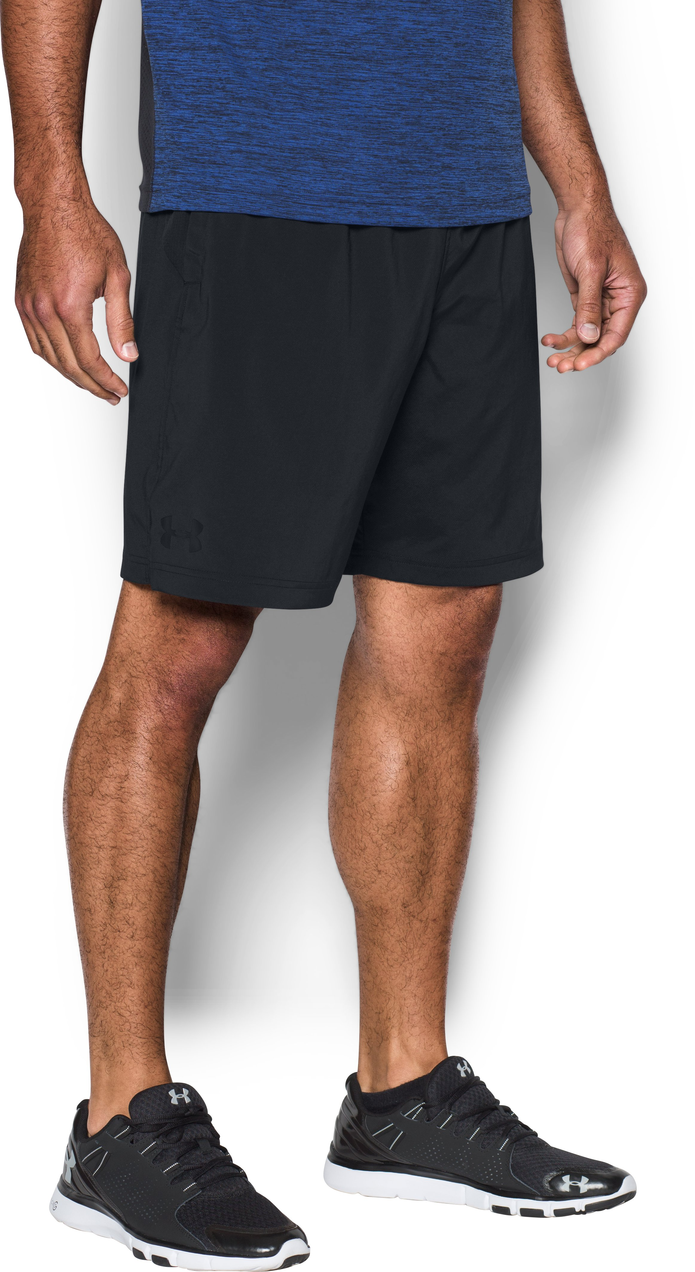 Men's UA HIIT Woven Shorts, Black , zoomed image