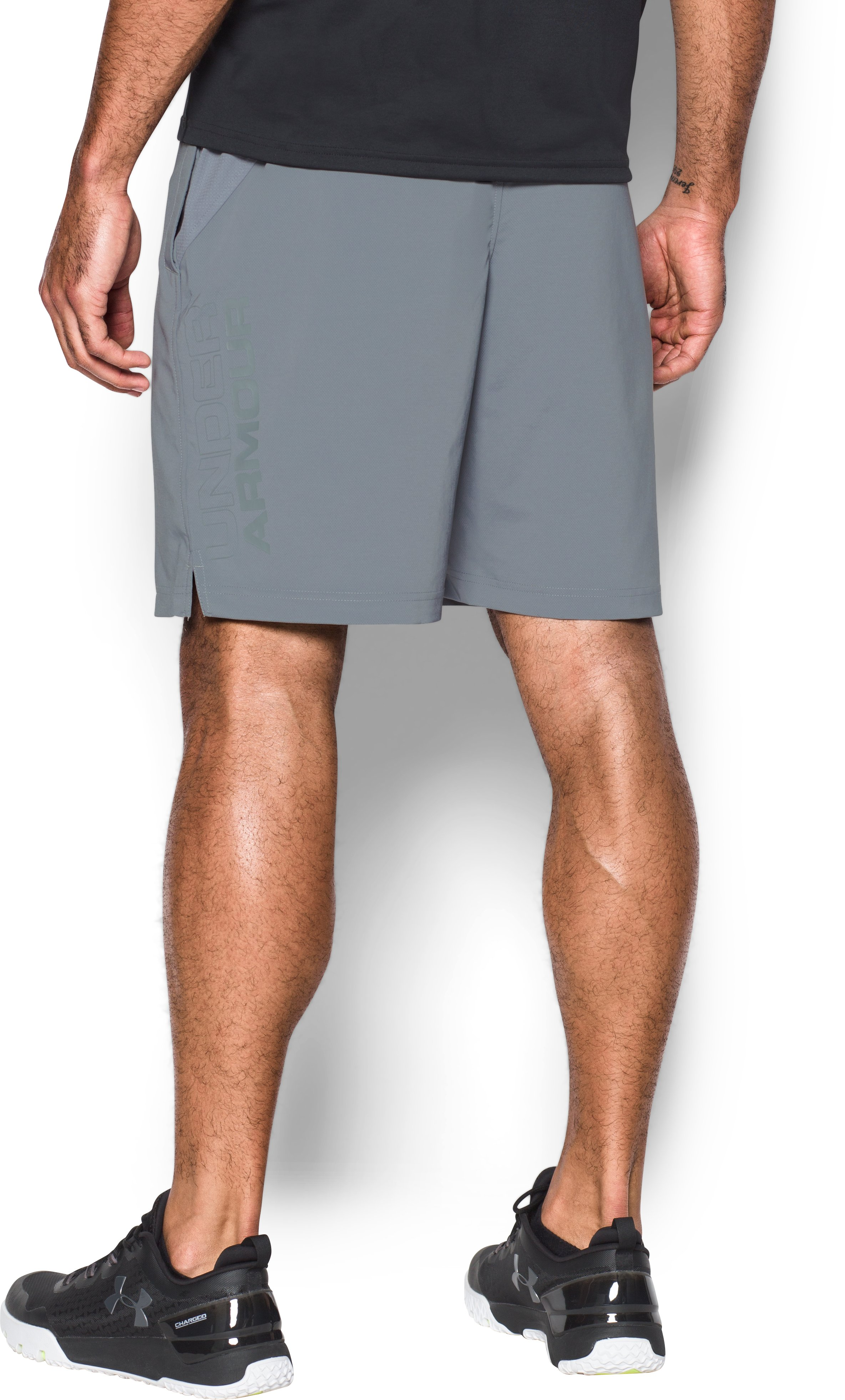 Men's UA HIIT Woven Shorts, Steel, undefined