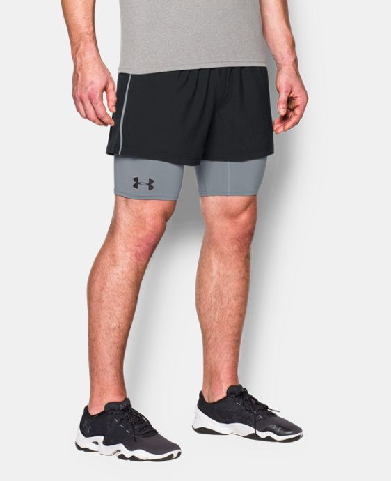 New Arrival  Men's UA Mirage 2-in-1 Training Shorts    $44.99