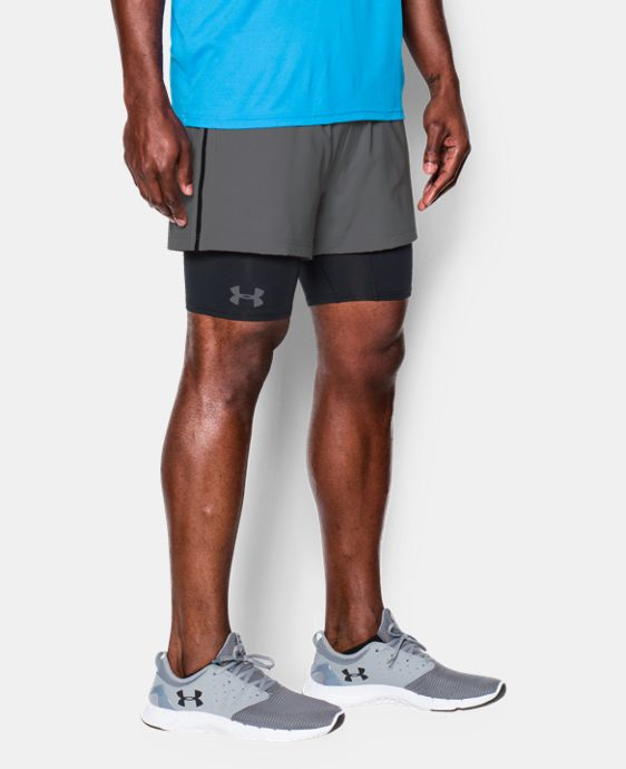 New Arrival  Men's UA Mirage 2-in-1 Training Shorts   1 Color $44.99