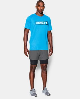 New Arrival  Men's UA Mirage 2-in-1 Training Shorts  LIMITED TIME: FREE SHIPPING 3 Colors $44.99