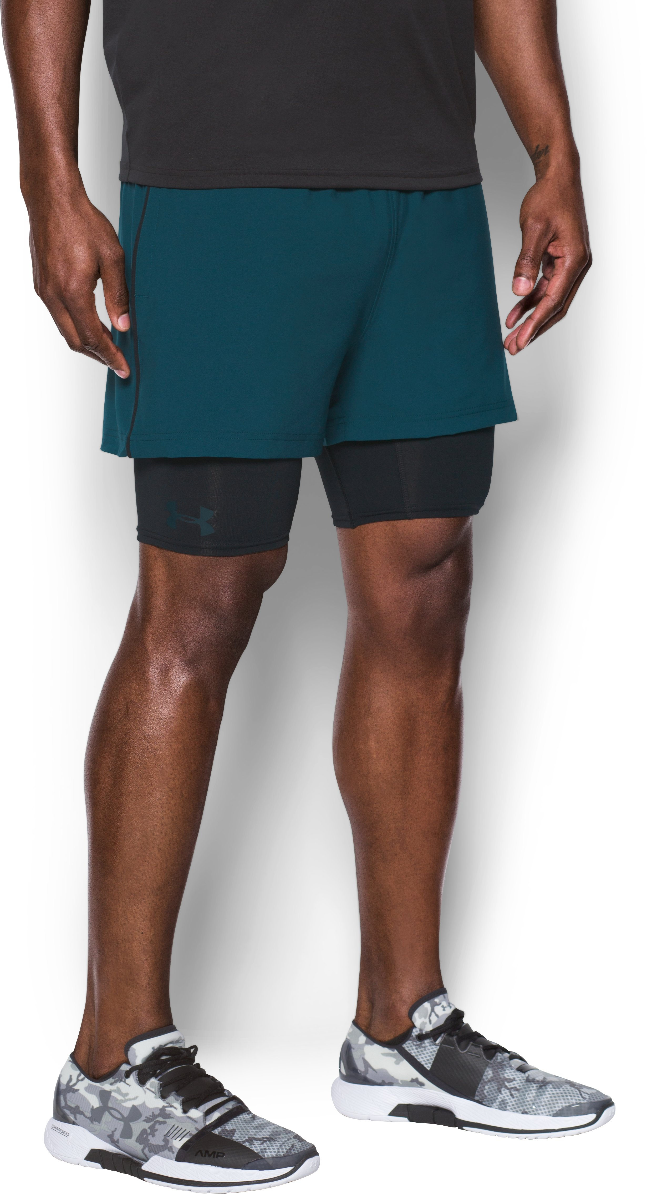 Men's UA Mirage 2-in-1 Training Shorts, NOVA TEAL