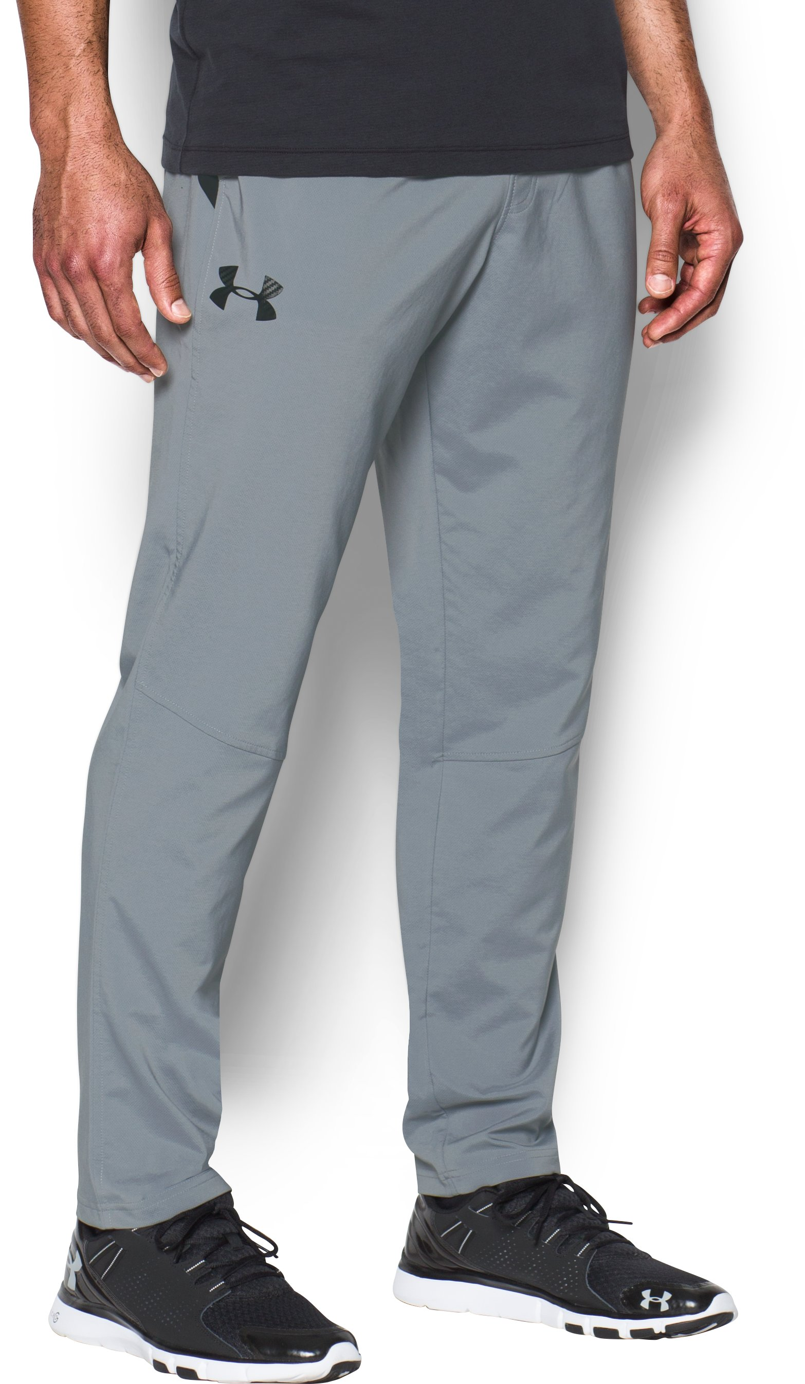 Men's UA HIIT Woven Pants, Steel,