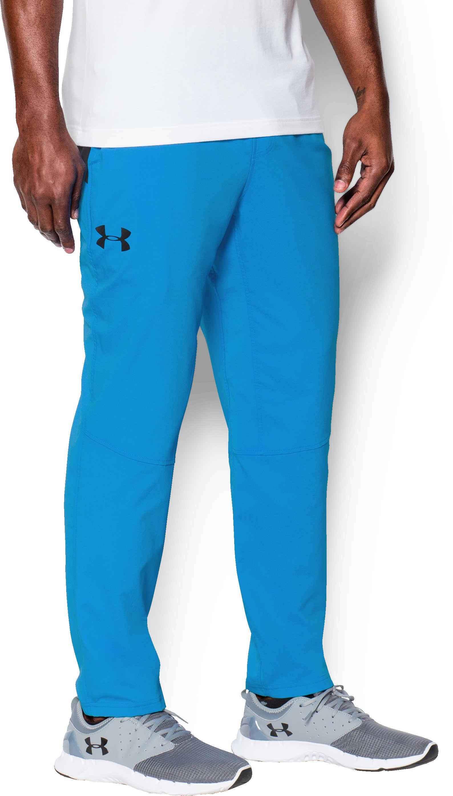 Men's UA HIIT Woven Pants, ELECTRIC BLUE, zoomed image