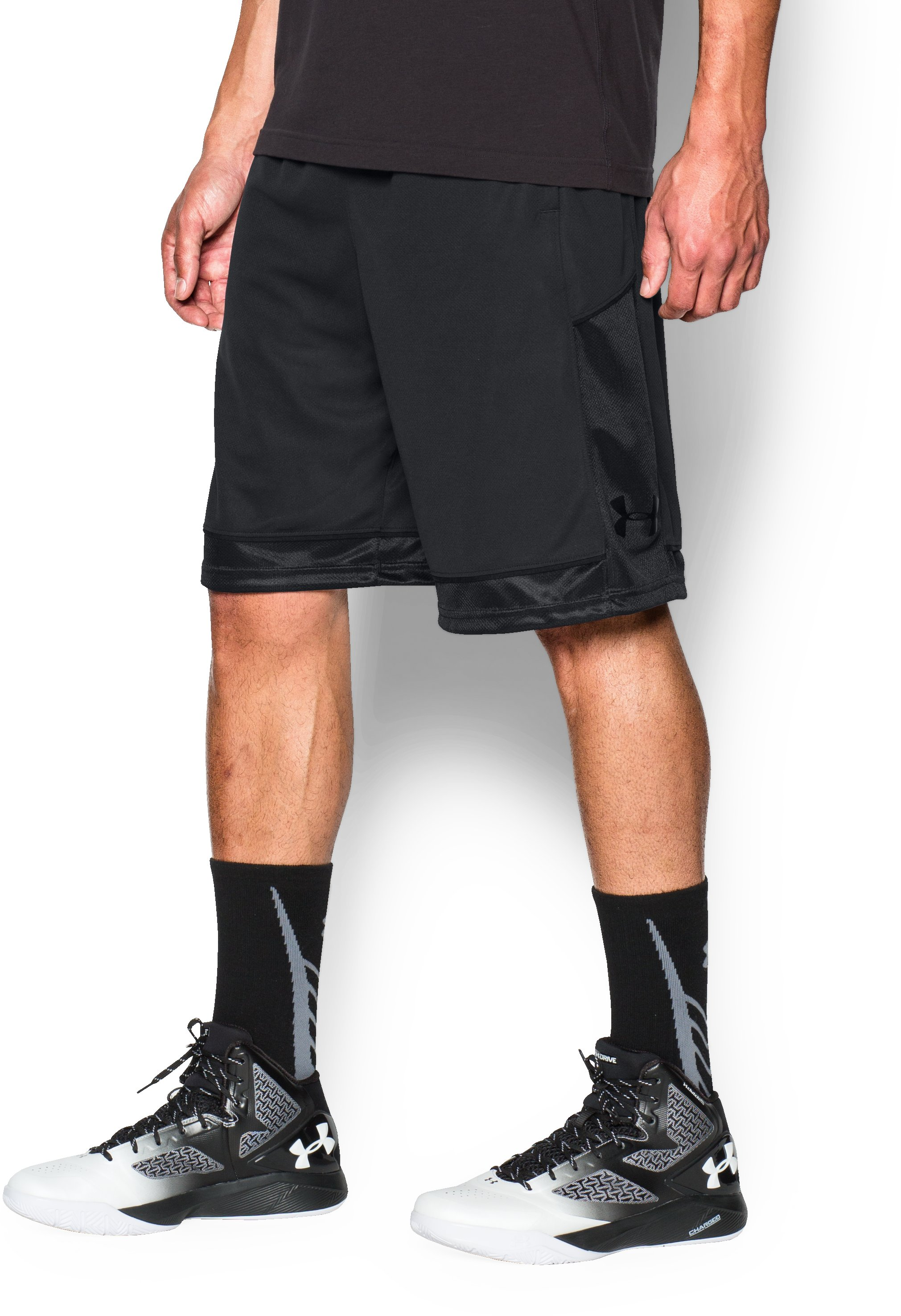 Men's UA Baseline Basketball Shorts, Black , undefined