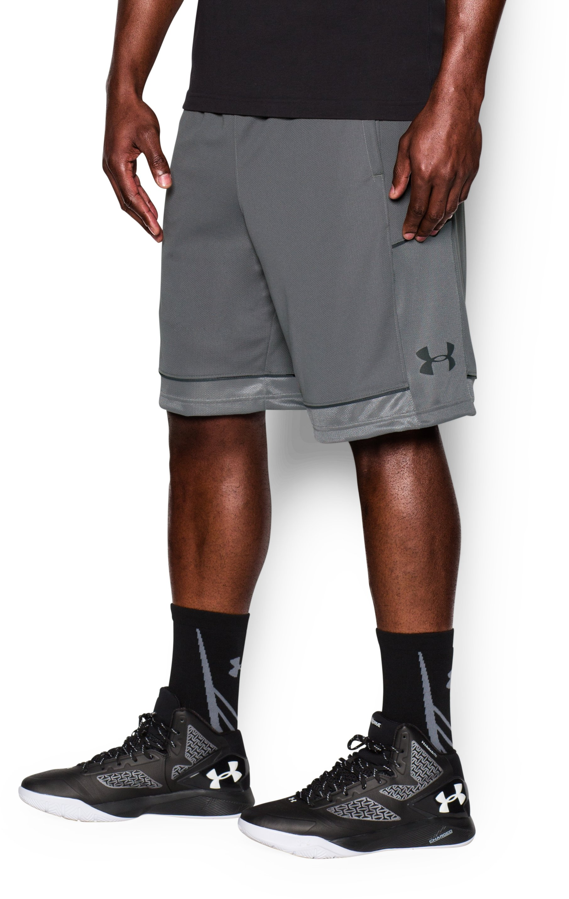 Men's UA Baseline Basketball Shorts, Graphite,