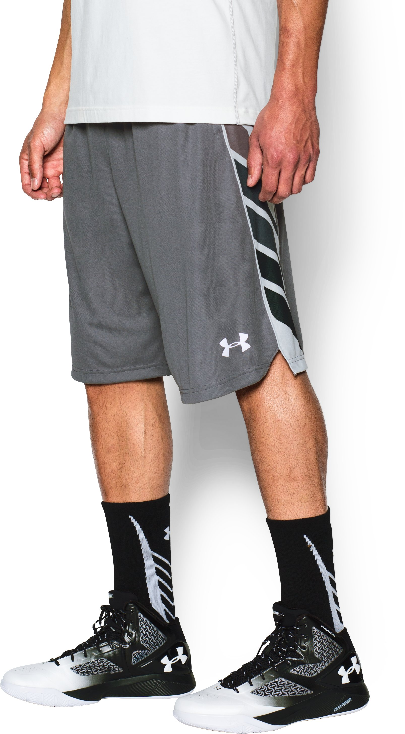 Men's UA Select Basketball Shorts, Graphite, undefined