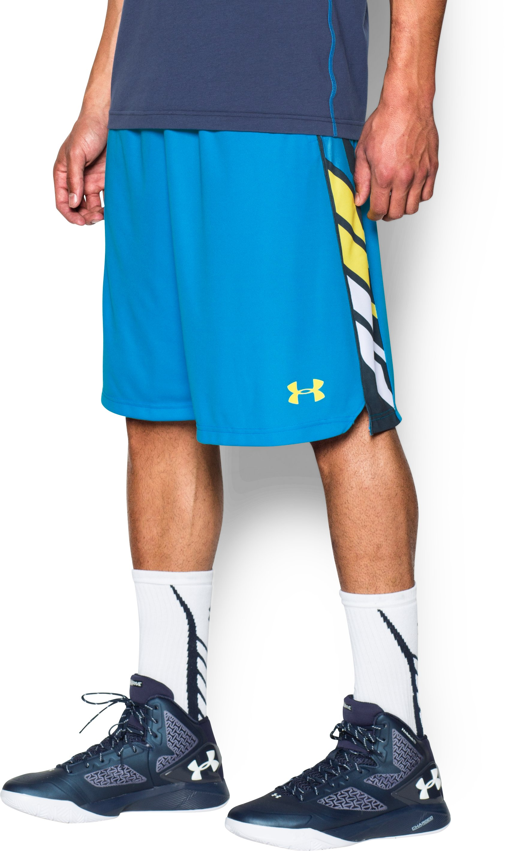 Men's UA Select Basketball Shorts, ELECTRIC BLUE