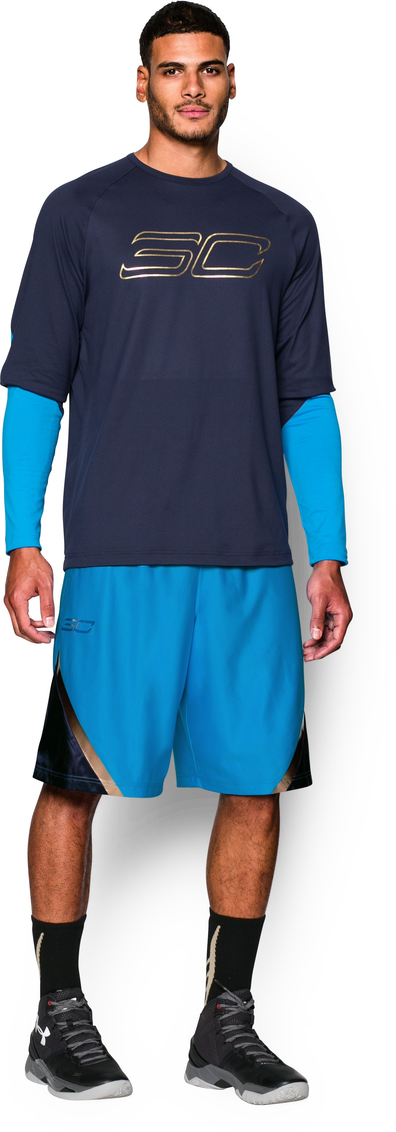 Men's SC30 Heatseeker Shorts, ELECTRIC BLUE, Front