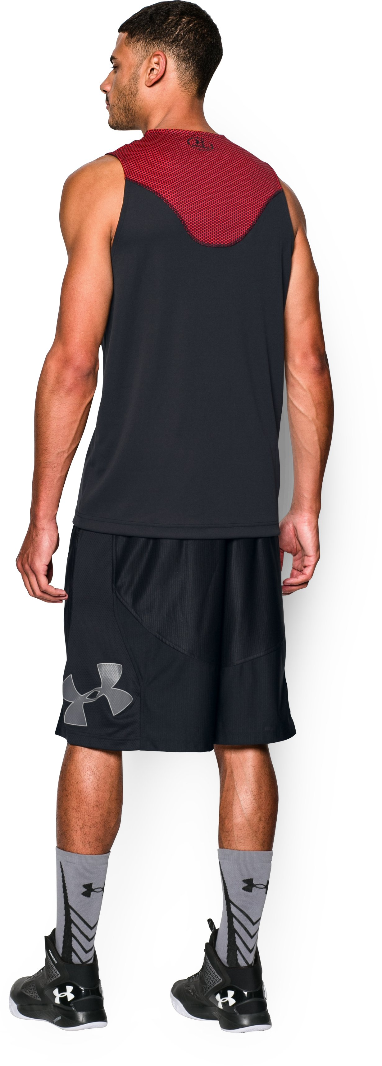 Men's UA Select Tank, Black , Back