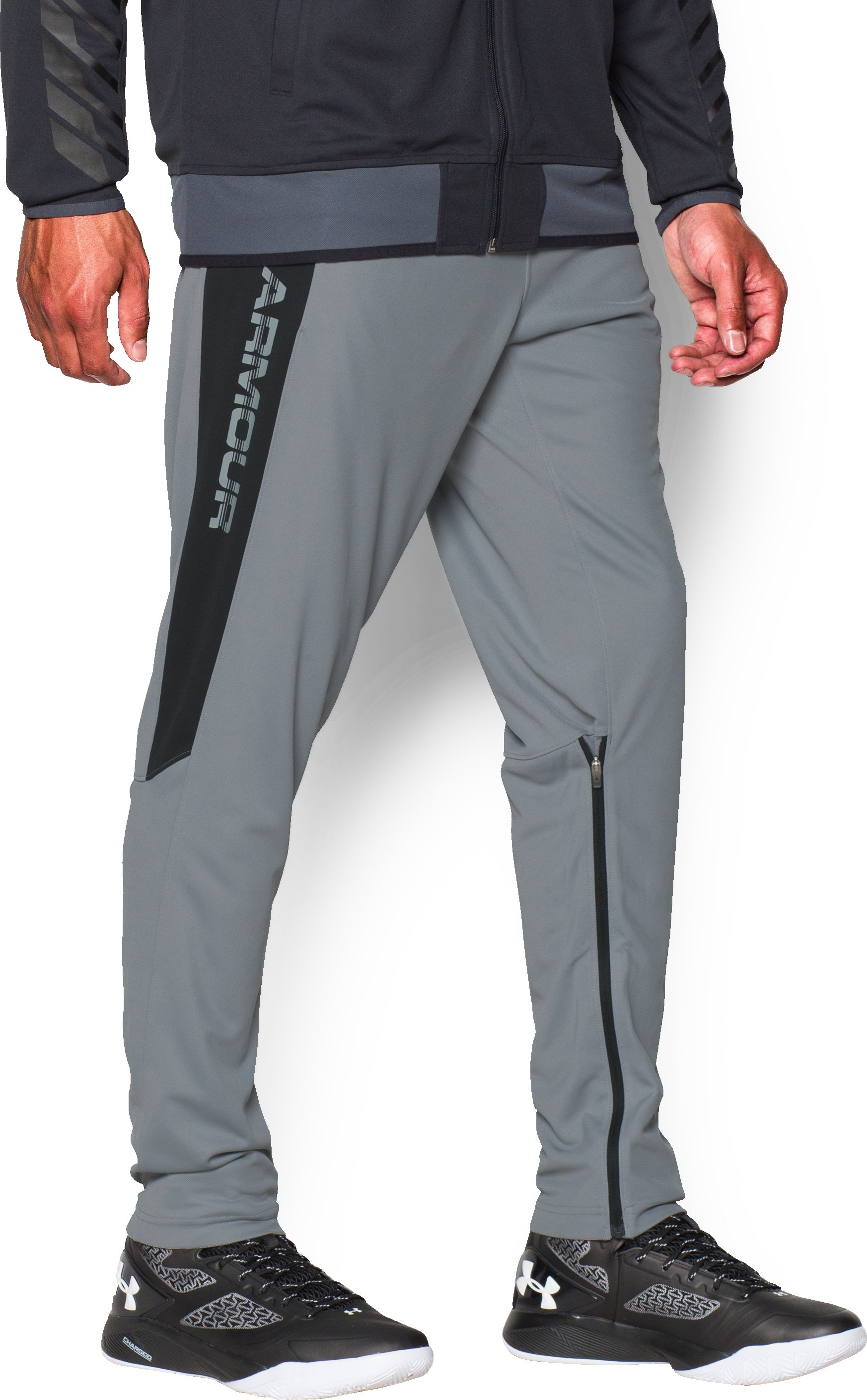 Men's UA Select Shooting Pants, Steel, zoomed image