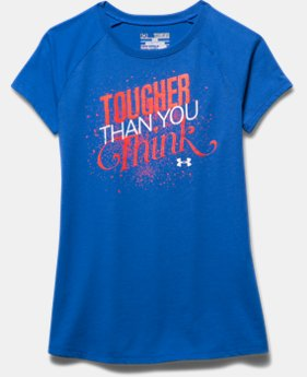 Girls' UA Tougher Than You Think Short Sleeve