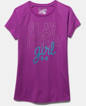 Girls' UA Play Like A Girl Short Sleeve