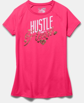 Girls' UA Hustle & Heart T-Shirt
