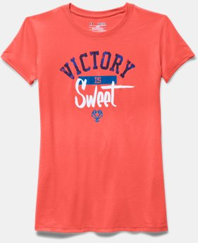 Girls' UA Victory Is Sweet Basketball Short Sleeve T-Shirt
