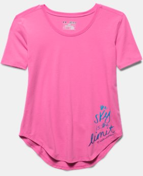 Girls' UA The Sky Is The Limit Short Sleeve