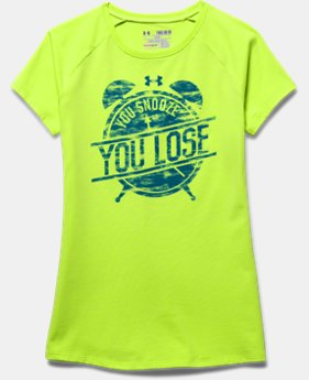 Girls' UA You Snooze You Lose Short Sleeve