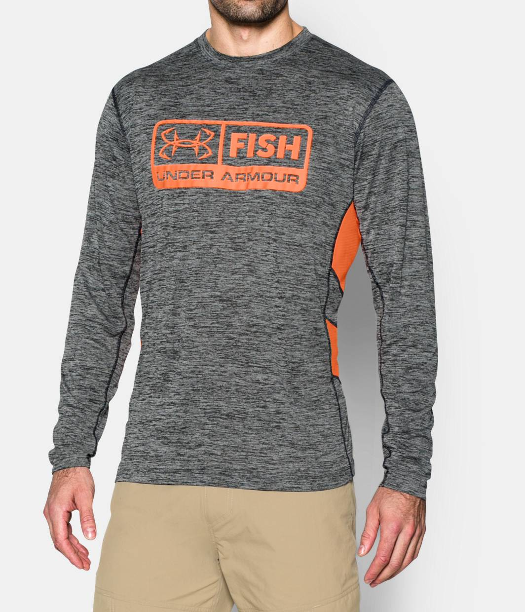 Men s ua fish hunter long sleeve t shirt under armour us for Under armour fishing shirts clearance