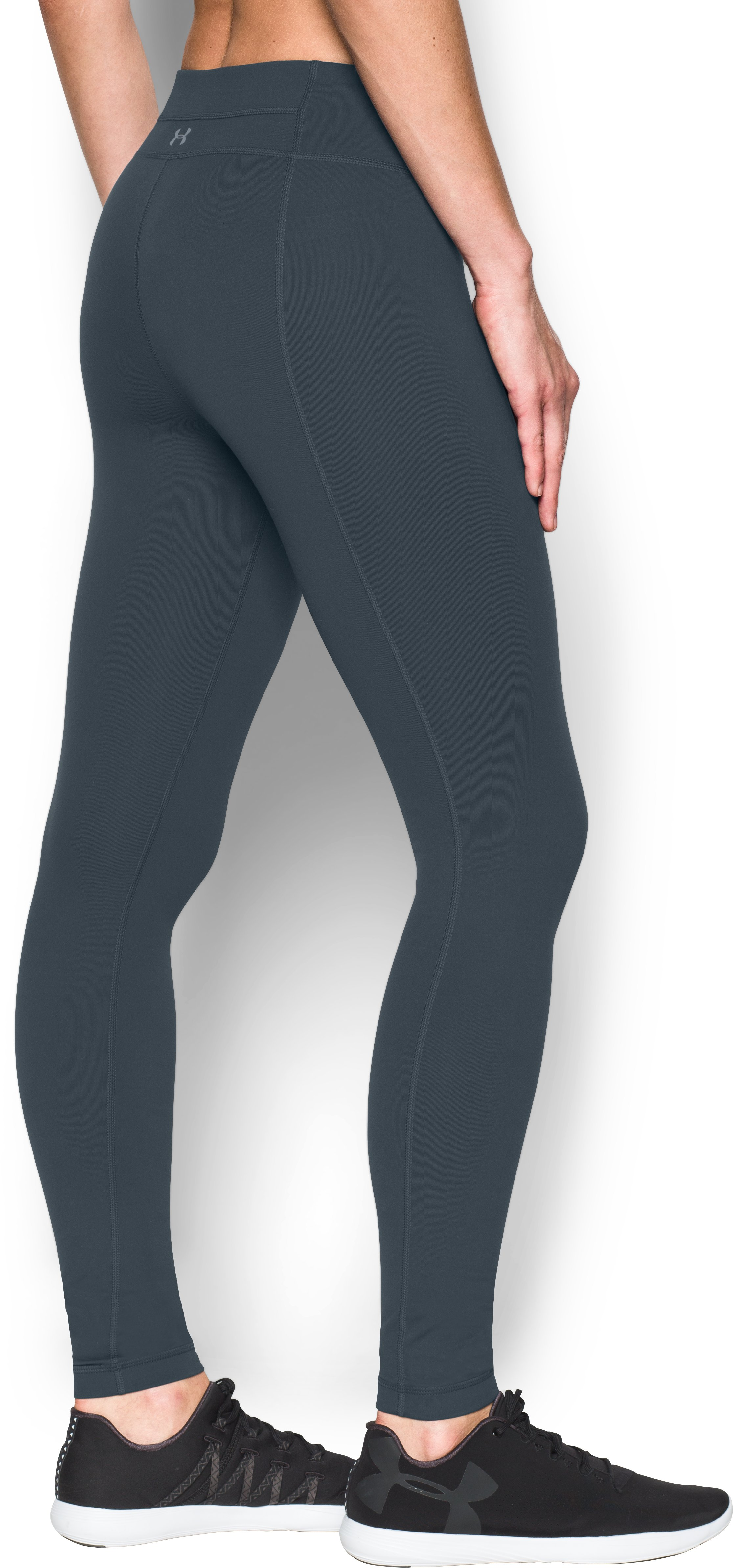 Women's UA Mirror Leggings, STEALTH GRAY, undefined